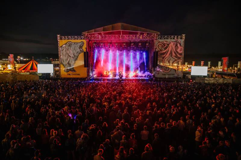 Stage colours at Y Not Festival